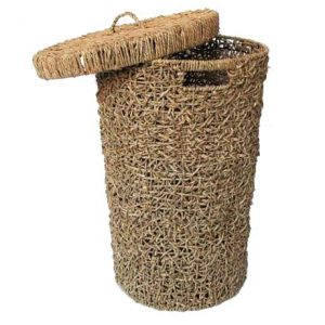 Round Seagrass Rope Laundry Basket