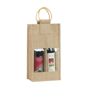 Two Bottle Bag with cane handle