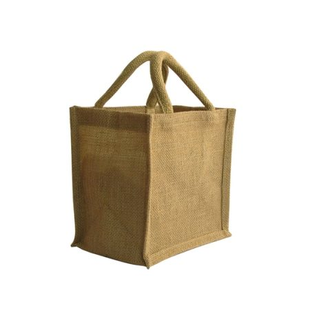 small jute shopping bag